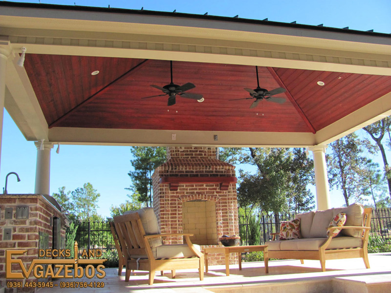 outdoor kitchens fireplaces ev decks gazebos