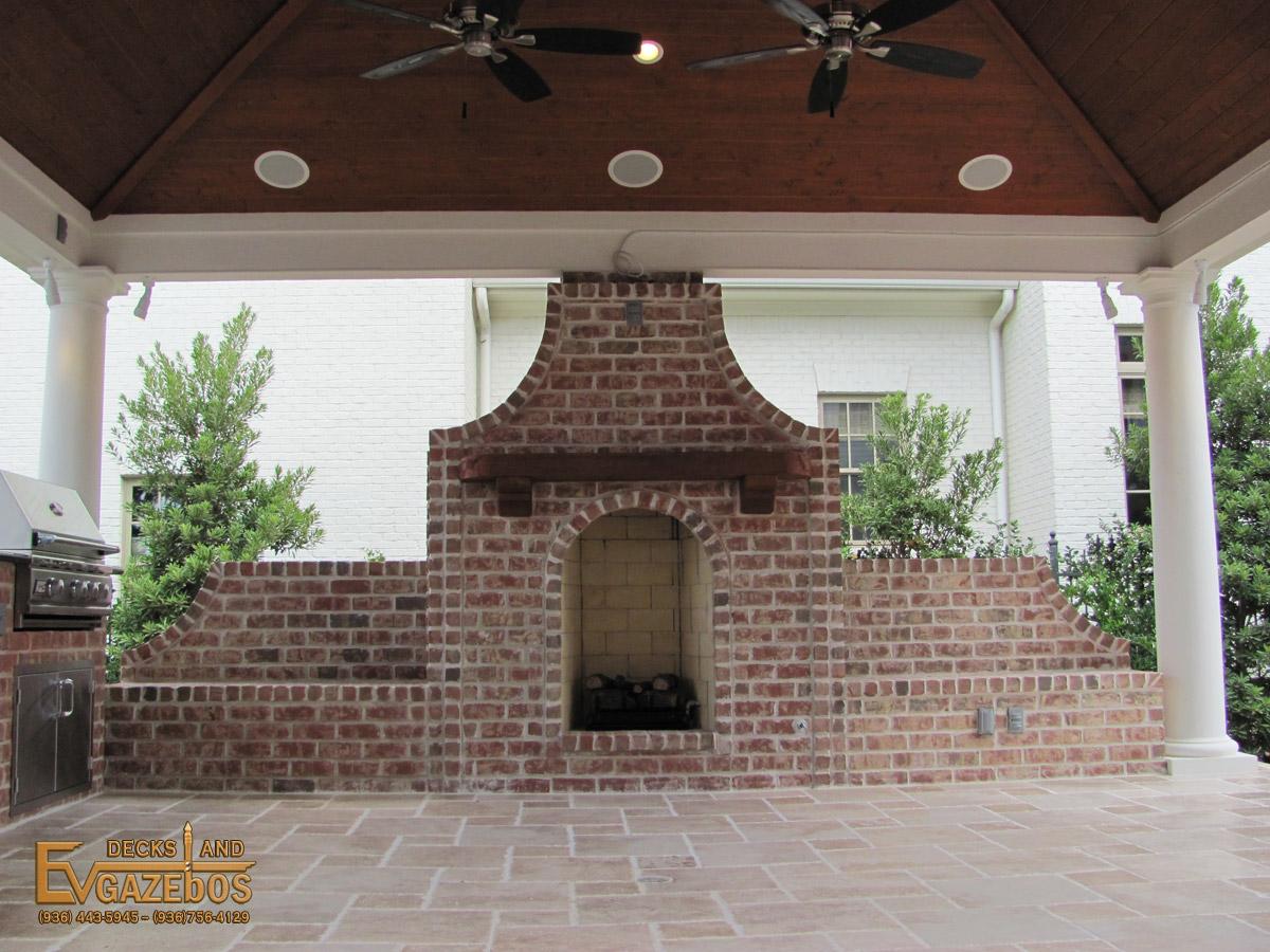 outdoor kitchen u0026 fireplace builder in montgomery texas ev decks